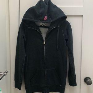 NWOT Aritzia TNA Long sweatshirt Gray Hoodie Zip